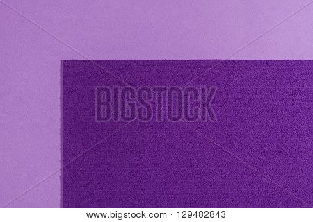 Eva foam ethylene vinyl acetate sponge plush purple surface on light purple smooth background