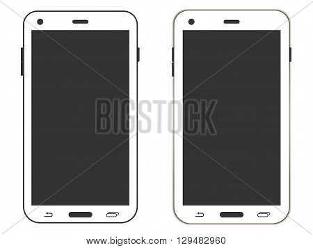 Smartphone. Realistic smartphone. Smartphone on a white background. Vector illustration.