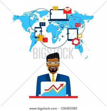 Arab businessman and international cooperation. Freelance and communication.