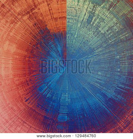 Spherical old vintage backdrop. Original background or aged texture with different color patterns: red (orange); purple (violet); gray; blue; pink; cyan