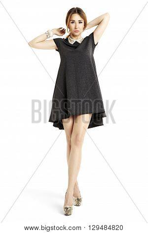 Attractive Woman Adjust Hair