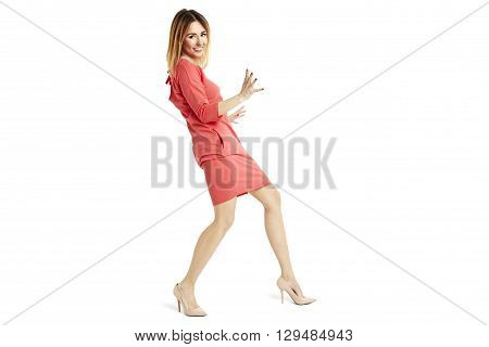 Woman In Stopping