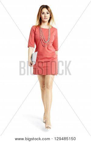Sexy Businesswoman Walking