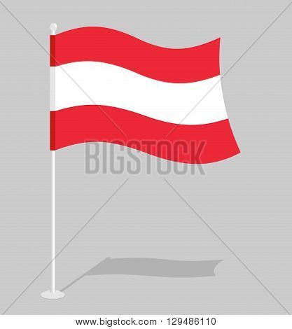 Austria Flag. Official National Mark Of Republic Of Austria. Traditional Austrian Flag Paced.