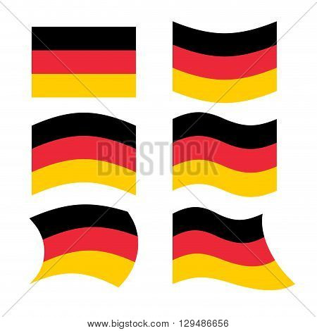 Germany Flag. Set Of Flags Of German Republic In Various Forms. Developing German Flag European Stat