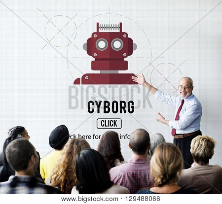 Cyborg Automated Machinery Robot Science Concept