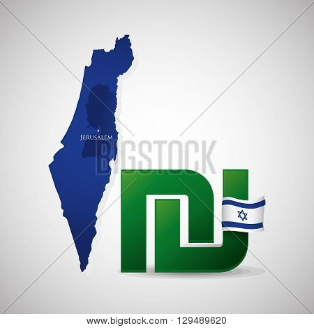 Israel concept with icon design, vector illustration 10 eps graphic.