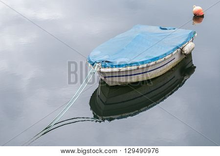 image of fishing boat on a mooring