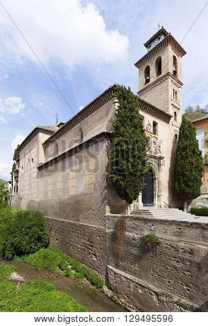 Iglesia de San Gil Y Santa Ana or Santa Ana church at Granada, Spain