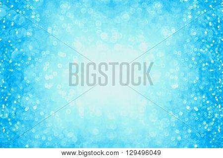 Pastel blue glitter sparkle background confetti party invite or poster