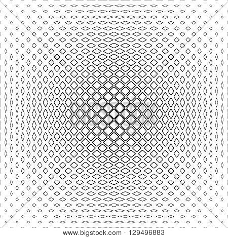 Black and white rounded square pattern background