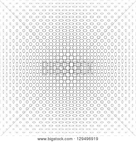 Black and white vector circle pattern background