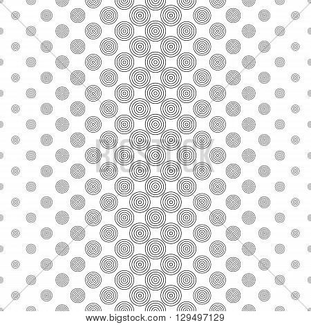 Repeat black and white vector circle pattern design