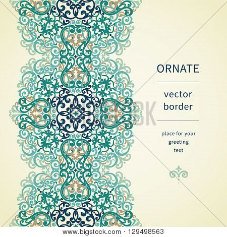 Vintage Ornate Border In East Style.