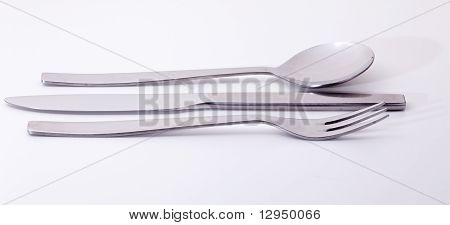 Modern Stainless Steel Knife Fork And Spoon