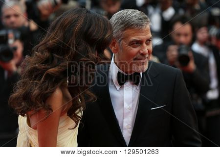 George Clooney, Amal Clooney at the Money Monster Premiere for