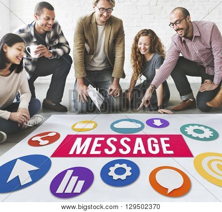 Message Internet Connection Sharing Concept