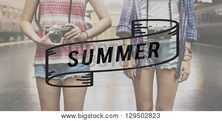 Summer Vacation Travel Fun Beach Relaxation Concept