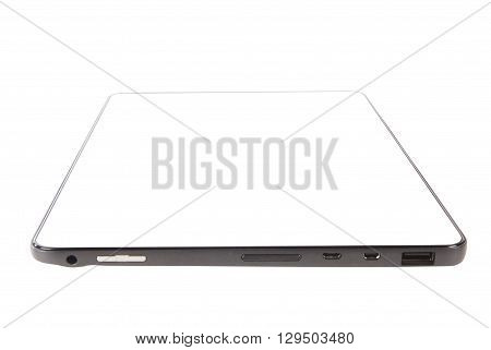 tablet 4g android technology against white backround