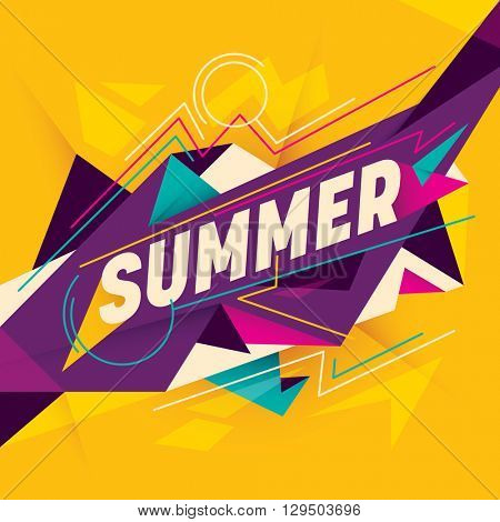 Summer background with abstraction. Vector illustration.