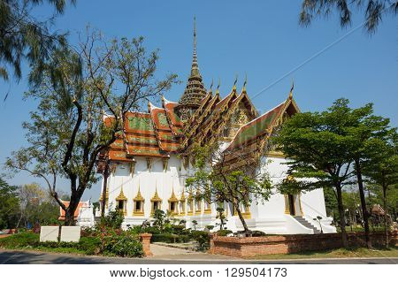 Buddhist temple in Samut Prakan province Thailand