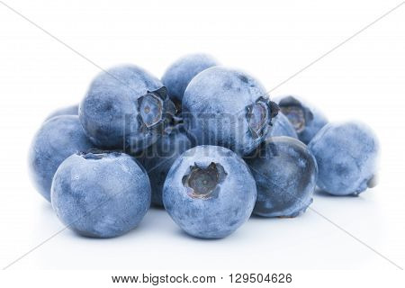 Freshly Picked Blueberries - Close Up Studio Shot