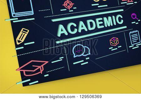 Academic Campus College Degree Diploma Study Concept