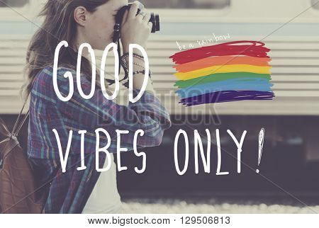 Good Vibes Only Inspire Motivational Positive Concept
