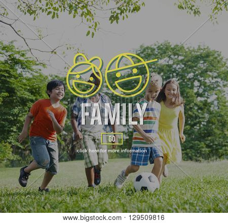 Family Parents Sibling Offspring Group Love Concept