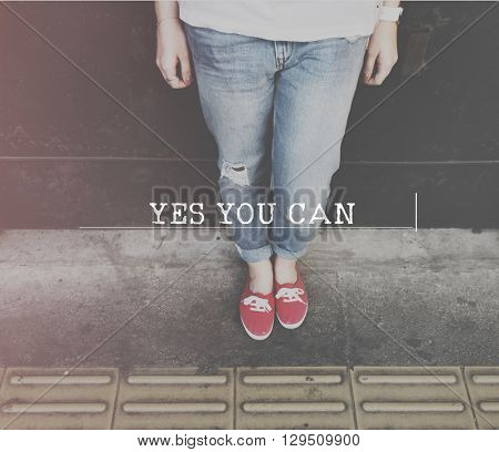 Yes You Can Motivation Skater Concept