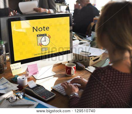 Note Schedule Plan Notice Concept