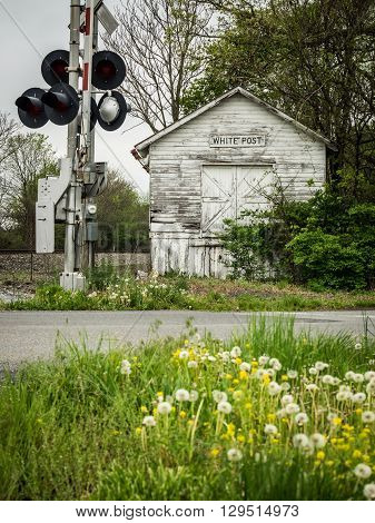Historic, Abandoned Railroad Depot in White Post, Virginia