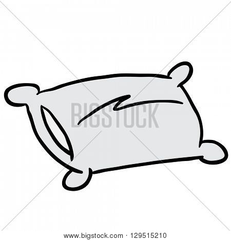 pillow cartoon illustration isolated on white