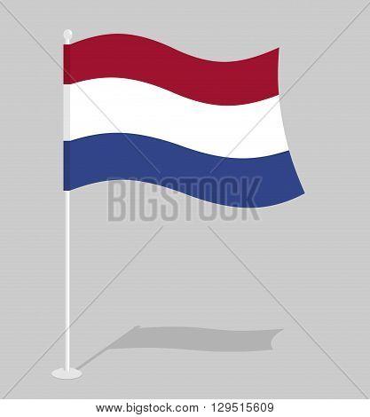 Netherlands Flag. Official National Symbol Of  Kingdom Of Netherlands. Traditional Dutch Flag Emergi