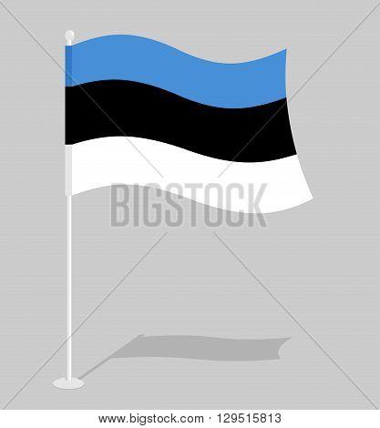 Estonia Flag. Official National Symbol Of Estonian Republic. Traditional Estonian Flag Emerging Euro