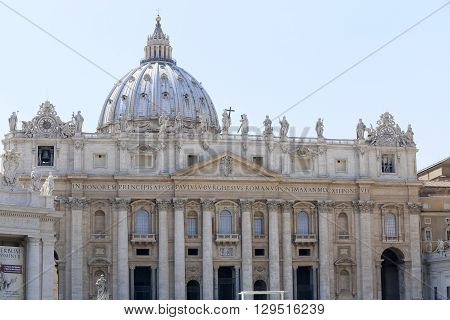 St. Peter's Basilica in Vatican the heart of Catholic Church
