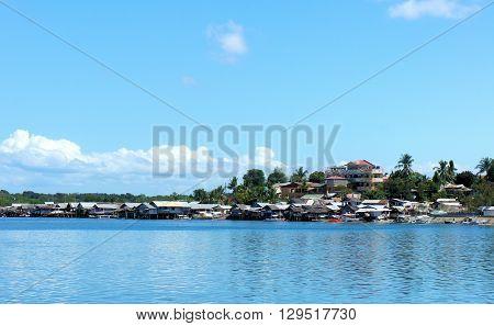 Island Palawan panorama landscape water and sky