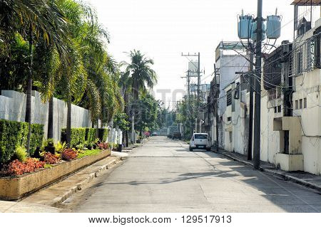 The streets of the Philippine cities. City landscape. Philippines.