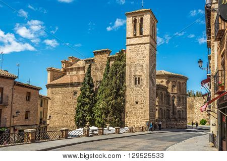 TOLEDO,SPAIN - APRIL 23,2016 - Church Santiago del Arrabal of Toledo. Toledo is a municipality located in central Spain.