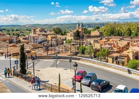 TOLEDO,SPAIN - APRIL 23,2016 - View at the old Town of Toledo. Toledo is a municipality located in central Spain.