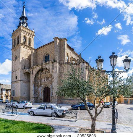 TORRIJOS,SPAIN - APRIL 23,2016 - Church Santisimo Sacramento in Torrijos.Torrijos is a Spanish municipality of Toledo province.