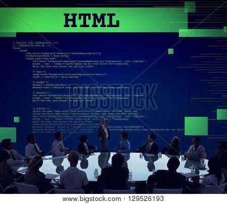 Html Programming Advanced Technology Web Concept