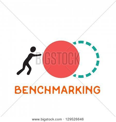 Benchmarking concept logo, vector icon