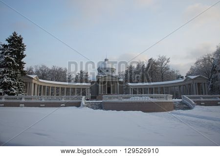 Arkhangelsk, Russia - January 3, 2011: Temple-Tomb Colonnade