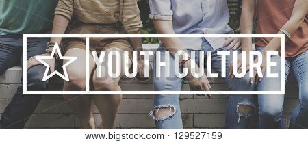 Youth Culture Teen Age Fun Concept