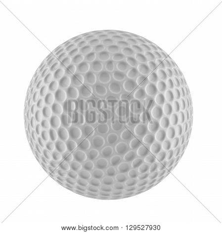 3D render of golf ball on peg