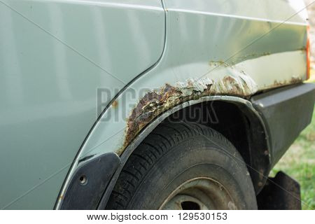 Rusty Car  Door, Wheel