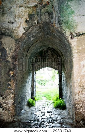 Passage in the bastion of the fortress Shpanola (Montenegro, Herceg Novi)