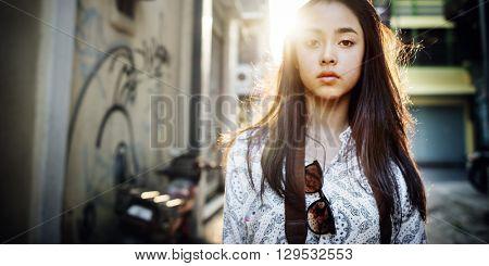 Chic Youth Culture Urban Scene Woman Concept