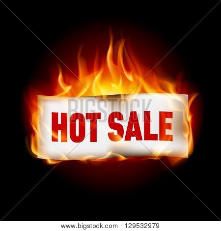 Fire label hot sale isolated on black